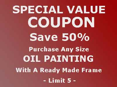 Save 50% - Oil Paintings On Artist Canvas With Ready Made Frame 