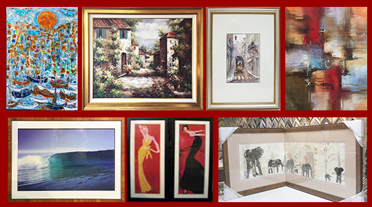 We frame art - any style - giclee, oil painting, water color, lithograph, serigraph and mixed media, 