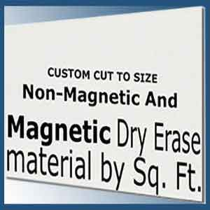 Frameless whiteboard dry erase board material cut to your size - magnetic or non magnetic up to 5 feet x 16 feet
