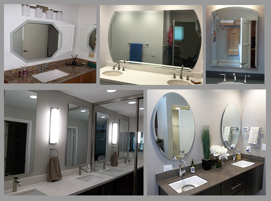 custom frameless bathroom mirrors beveled and flat polished mirrors to your exact size