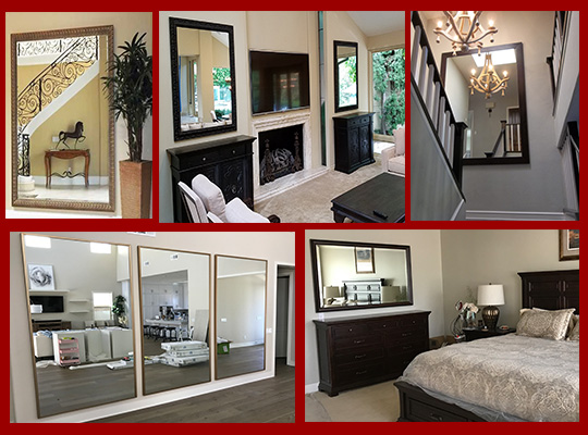 Create a custom wall mirror to accent any room of your home - select mirror style