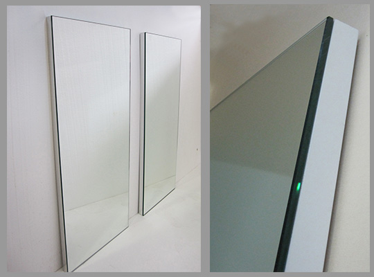 Custom blocked mirrors - any color material behind mirror