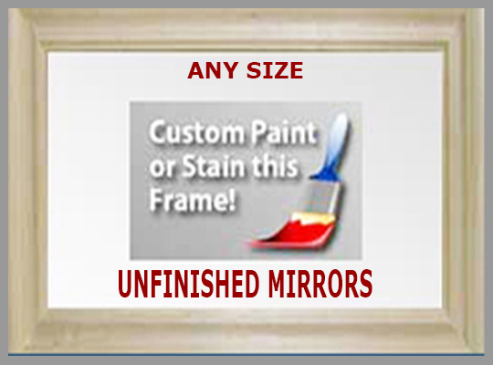 Unfinished Wood Frameed Mirrors